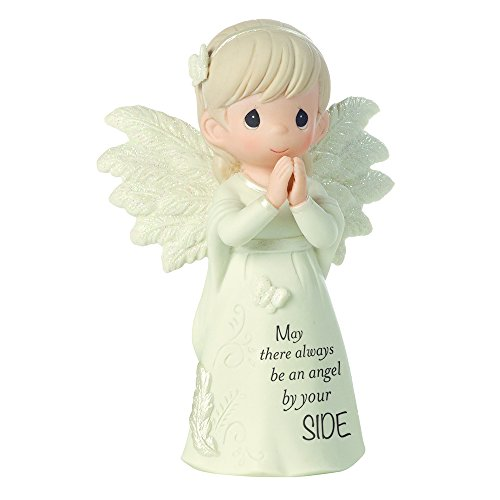 Precious Moments, May There Always Be An Angel By Your Side, Bisque Porcelain Figurine, 161062