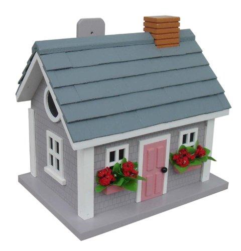 (Home Bazaar Vineyard Cottage Birdhouse, Grey)