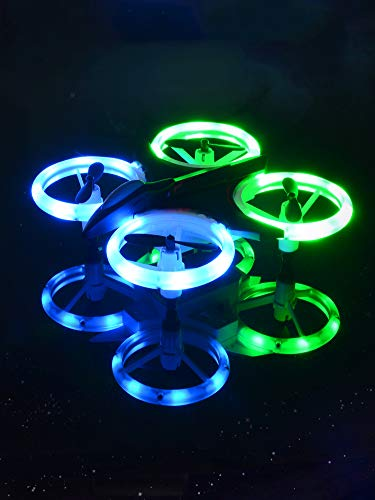 Mini RC Drone Quadcopter for Kids Adults 2.4Ghz 4 Ch 6-Axis Gyro RC Helicopter with Led Lights, Auto Hovering, One Key Take Off/Landing, 3D Flip, Headless Mode Good Choice Drone for Beginners