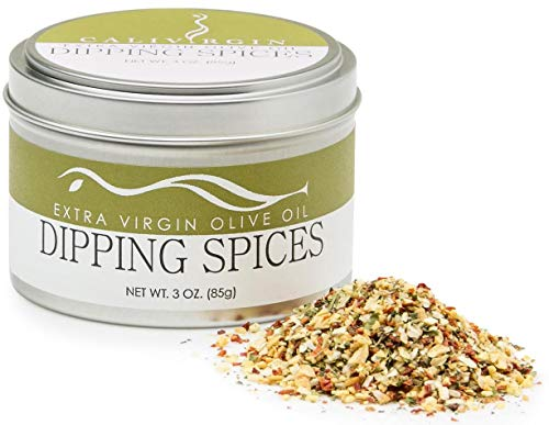 Calivirgin Olive Oil Dipping Spices - Restaurant Style Gourmet Spice Mix - Premium Dip Seasoning Spice Blend - Basil, Sun-dried Tomatoes, Garlic, Parsley & Oregano - Bread Dipping Seasoning Mix ()