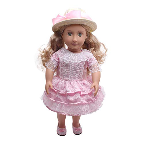 (AMOFINY Costumes Doll Clothes Dress Hair Band for 18 Inch for American Girl Doll Accessory)