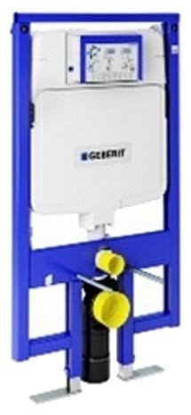 Geberit 111.728.00.1 Concealed Toilet Carrier Frame with UP720 Dual-Flush (Remote Pneumatic Actuator)