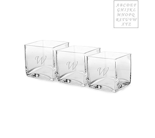 Cathy's Concepts Personalized Set of Three Glass Vase Center Piece Letter- U (Cathy Vase)