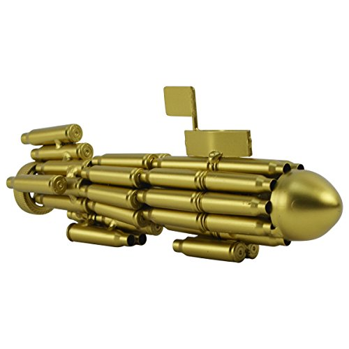 Gun Bullet Casings Shells Shaped Model Navy Diving Sub Submarine Military Gift
