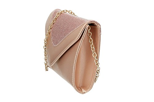 Purse for ITALY envelope clutch woman VN2487 MADE ceremonies pochette pink IN SSFH8q