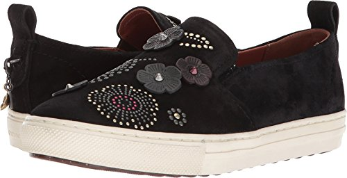 Sneaker Slip-on Da Donna In Pelle Nera Da Donna