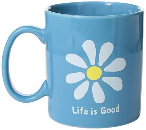Life is Good Unisex Jake's Mug Daisy, Powder Blue, One Size