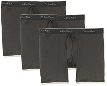 Calvin Klein Men's Micro Stretch Boxer Brief - 3 Pack, Black, Large