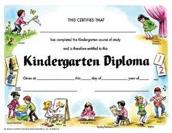 Hayes School Publishing VA203CL Kindergarten Diploma Set 1- Set of 30 8.5\'\' X 11\'\' Certificates