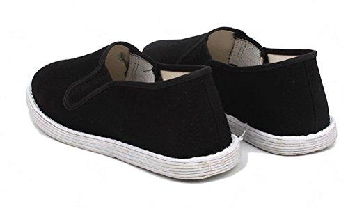 Noir La À Chaussons Tai TM Fait Pour Wushu Fu Main Chaussures Nanxson TJX0003 Kung Traditionnel Chi Loafer nY0Swxaqqg