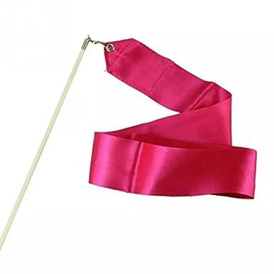 4 m Nastro per ginnastica ritmica 5 pezzi bacchetta con impugnatura antiscivolo cavo rosso in metallo E-Goal
