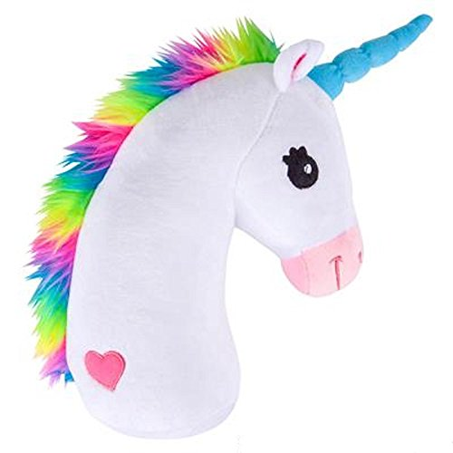 Rainbow Unicorn Head Plush Stuffed Animal Toy