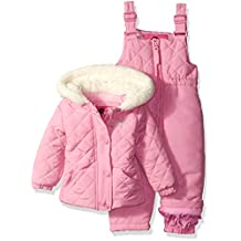 Weatherproof baby-girls Baby Jacket and Snowsuit Set