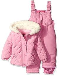 Weatherproof baby-girls Baby Jacket and Snowsuit Set