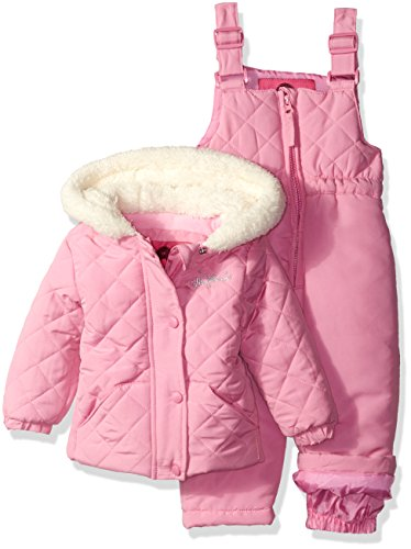Weatherproof Baby Girls' Jacket and Snowsuit Set, Begonia Pink, 12 Months