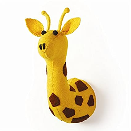 Stuffed Animal Giraffe Trophy Head Wall Decor
