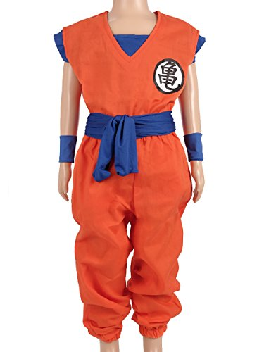 Dragon Ball Children Costume, Son Gokus Training Suit at Master Roshis (Goku Costume With Tail)