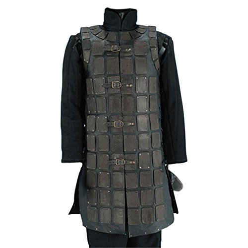Armor Venue: Leather Brigandine Body Plate Armour Black Small/Medium