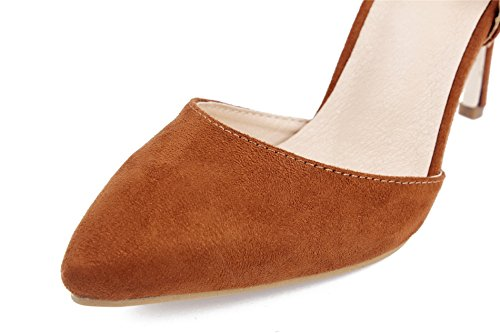 Slip Femme AgeeMi Pointu Aiguille Toe Kaki Chaussures On Escarpins Talon Shoes q1xwTgZB