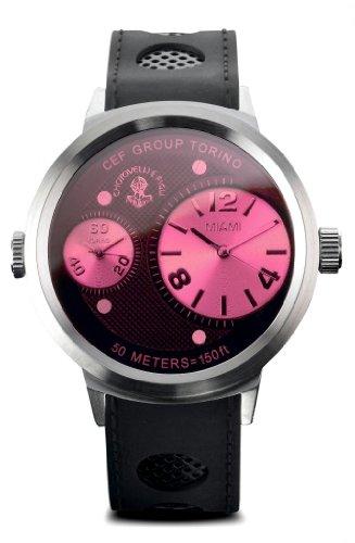 Chotovelli Big Men's Fashion Watch Dual Time display Black Silicone Strap MiTo.2