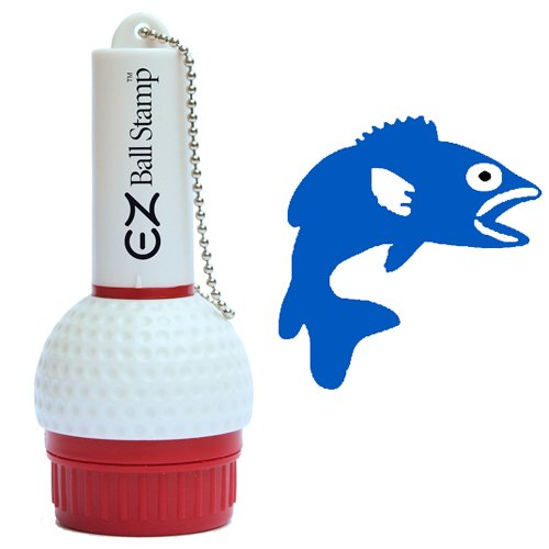 ProMarking EZBallStamp Golf Ball Stamp Marker (Blue Fish) ()