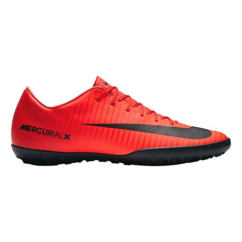 NIKE Men's MercurialX Victory VI TF Turf Soccer Cleat (Sz. 9.5) Red, Bright Crimson (9.5 Soccer Turf Cleats)