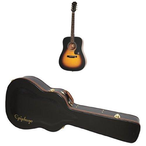 Price comparison product image Epiphone DR-100 Acoustic Guitar (Vintage Sunburst) Hardcase Bundle