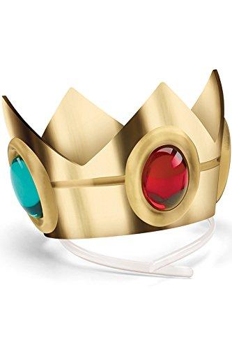 Disguise Women's Nintendo Super Mario Bros.Princess Peach Crown Costume Accessory, Gold/Red/Green, One (Peach Crown)