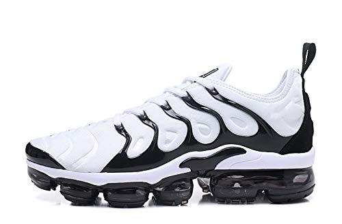 LIKEER Air Max Plus TN Men's Air Vapormax Plus Running Shoes (11 US, Black and White)