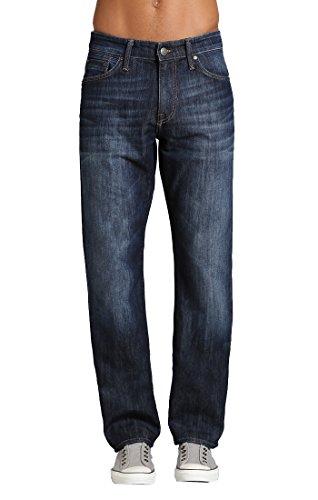 Mavi Men's Matt Classic Mid-Rise Relaxed Straight-Leg Jeans, Dark Stanford, 33W X 34L (Best Fitting Jeans For Men Over 50)