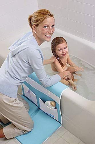 AQUATOPIA, Safety Bath-Time Cushioned Easy Kneeler & Detachable Elbow Rest, Blue