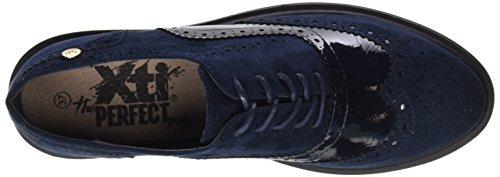 XTI Damen 047331 Schnürhalbschuhe Blau (Navy)