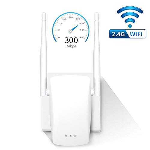 Ananteke WiFi Extender 300Mbps WiFi Range Extender Wireless WiFi Repeater with Antenna Support 2.4GHz Fast Speed Easy Set Up WiFi Repeater