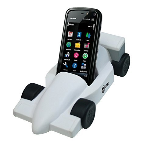 Indy Formula Race Car Style Stress Reliever Cell Phone Holder - Red - Promotional Product - Your Logo Imprinted (Case Pack ()