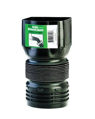 Flex-Drain ADP53102 Downspout Adaptor, Landscaping Drain Pipe Adapter 3 by 4 by 4-Inch