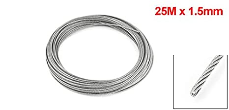 Hardware Hoisting Lifting 7x7 1mm Dia Stainless Steel Flexible Wire Rope 82ft Modern Techniques Home Improvement