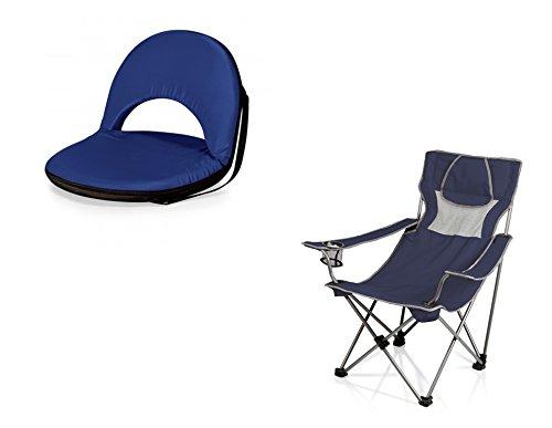 ピクニック時間OnivaリクライニングシートともOK椅子 – 海軍、2のセット B06XPK5WM7