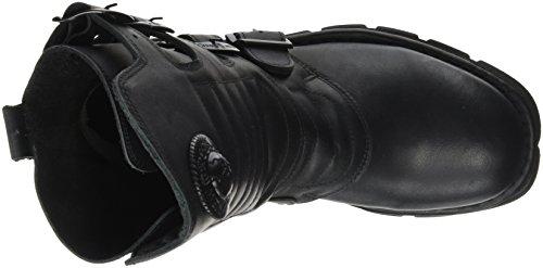 New Rock M-373x-s6, Stivali da Motociclista Unisex – Adulto nero