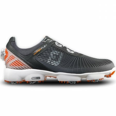 FootJoy HyperFlex Grey/Orange Closeout BOA Golf Shoes - 11.5 D(M) US (Footjoy Shoes compare prices)