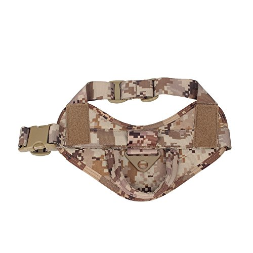 Yisibo Tactical K9 Dog Training Vest Nylon Adjustable Service Police Patrol Molle Harness W/ Dog Vest Packs Velcro