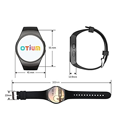 Smart Watch, Otium® Bluetooth Wrist Smart Watches with Camera Heart Rate Support SIM TF Card for IOS iPhone Android Samsung Sony LG Smart Phones