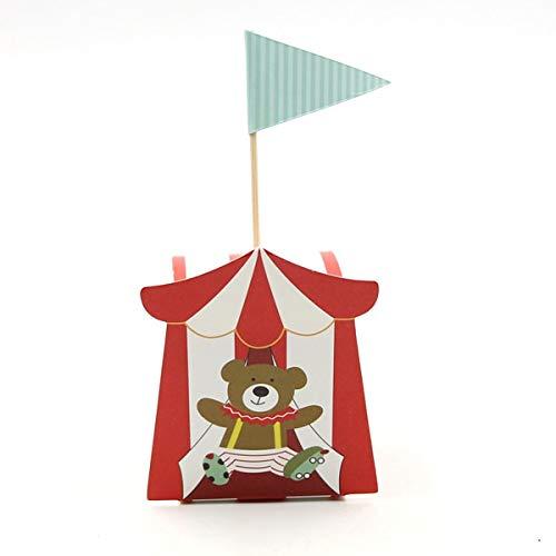 SMHILY 10 Pcs//Lot Mignon DIY Bande Dessin/ée Cirque Th/ème Bo/îte De Bonbons pour Les Enfants F/ête danniversaire Baby Shower D/écoration Bonbons Cadeau Bo/îte Fournitures