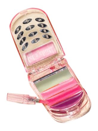 amscan Barbie All Doll'd Up Cell Phone Lip Gloss Birthday Party Accessory (6 Pack), 3.25