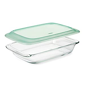 OXO Good Grips Freezer-to-Oven Safe 3 Qt Glass Baking Dish with Lid, 9 x 13