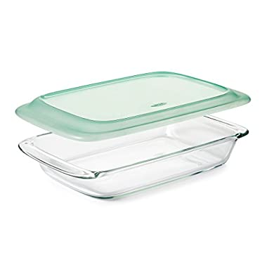 OXO Good Grips Freezer-to-Oven Safe Glass Baking Dish with Lid, 9 x 13