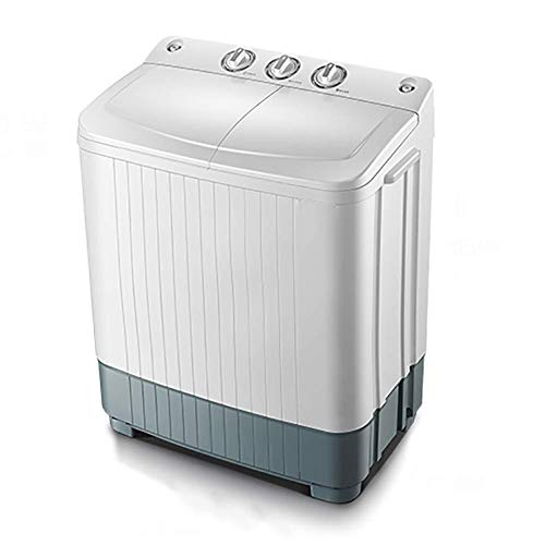 HAMMER Compact Mini Twin Tub (13,2 lbs / 20 lbs) Top Load Waschmaschine w/Waschmaschine Spinner, Built-In Gravity Pumpe…