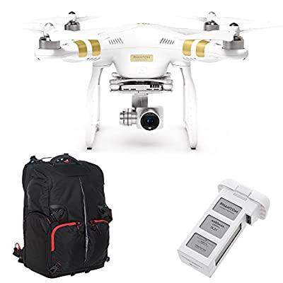DJI Phantom 3 Professional with Extra Battery and Ultimaxx Backpack (Certified Refurbished)