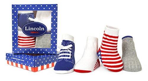 - Trumpette Baby Boys Sock Set-4 Pairs, Lincoln's - Assorted Brights, 0-12 Months