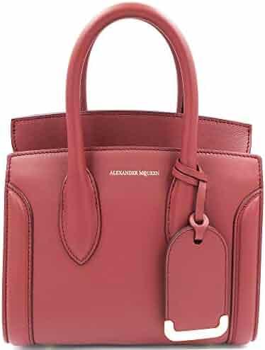 0d892fb2b2 Alexander McQueen Heroine 21 Dark Red Italian Satchel Ladies Bag 47987DX50M