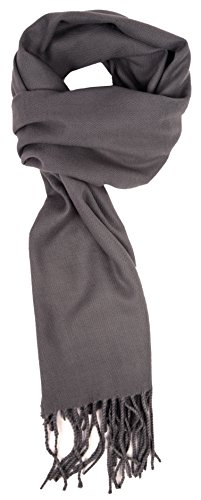 Love Lakeside-Men's Cashmere Feel Winter Solid Color Scarf 00-0 Slate Grey